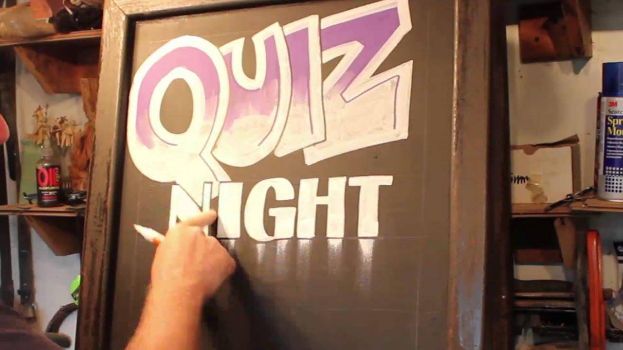 Art Quiz : Chalkboard art quiz night youtube