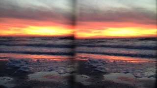 3D Sunset at Indian Rocks Beach in Tampa Bay, Florida.