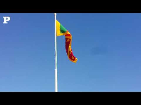 Flag hoisting ceremony on the 69th Independence day of Sri Lanka at the Sri Lankan embassy Doha