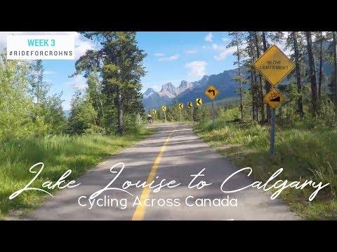 Lake Louise To Calgary Alberta  | Cycling Across Canada Week 3 | Bike Touring