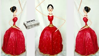 How to make dancing doll from Newspaper | DIY Newspaper doll