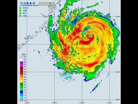 1307蘇力颱風侵臺雷達回波圖動畫(無地形) - YouTube