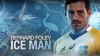 "Wallabies and Waratahs' fly half Bernard ""Iceman"" Foley spoke to Wo..."