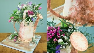 Watering Can / Flower Cake Preview Ft Tupelo Tree Garden | Paul Bradford Sugarcraft School