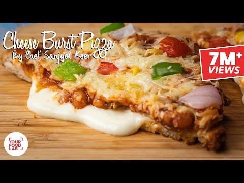 Cheese Burst Pizza Recipe | Chef Sanjyot Keer