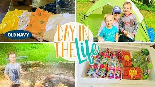 Day In The Life Vlog of a Stay at Home Mom | Cub Scout Camping Trip