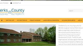 Berks County HA www.berksha.org Application Process BCHA Waiting List