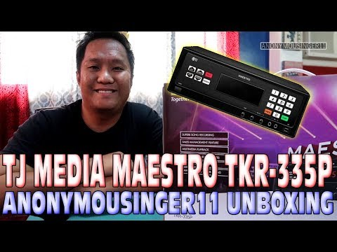 TJ MEDIA MAESTRO TKR-335P | ANONYMOUSINGER11 UNBOXING