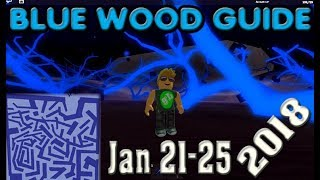 ROBLOX Lumber Tycoon Blue Wood Maze Guide 2018 January 21
