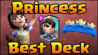Clash Royale - Best Princess Decks and Strategy for Arena 7 & Arena 8! Hog Rider Deck & Royal Giant