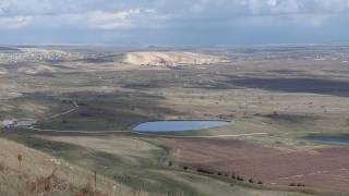A view of Syria-Israel Border from Tel Hermonit Israel - A memory from Yom Kippur War