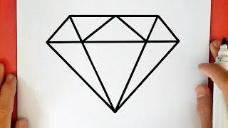Comment dessiner un Diamant pas à pas (facile)