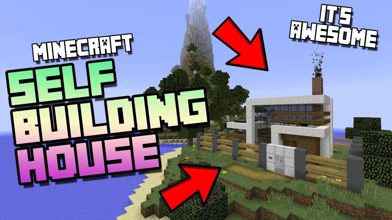 Minecraft - Self Building Redstone House With Command Blocks