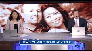 Healthy man dies at home from COVID-19