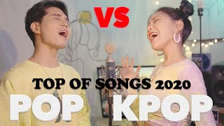 Download (POP vs KPOP) 2020 히트곡들의 대결 | Hit Songs Mashup | BTS, BLACKPINK, VVS, Dua Lipa, TITLIAAN...