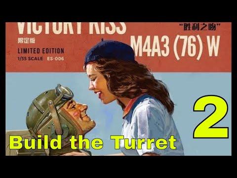 Victory Kiss Part 2 - Assembling the Meng M4A3 Sherman Turret