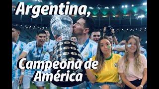 Final Copa América / Reacción de colombianas