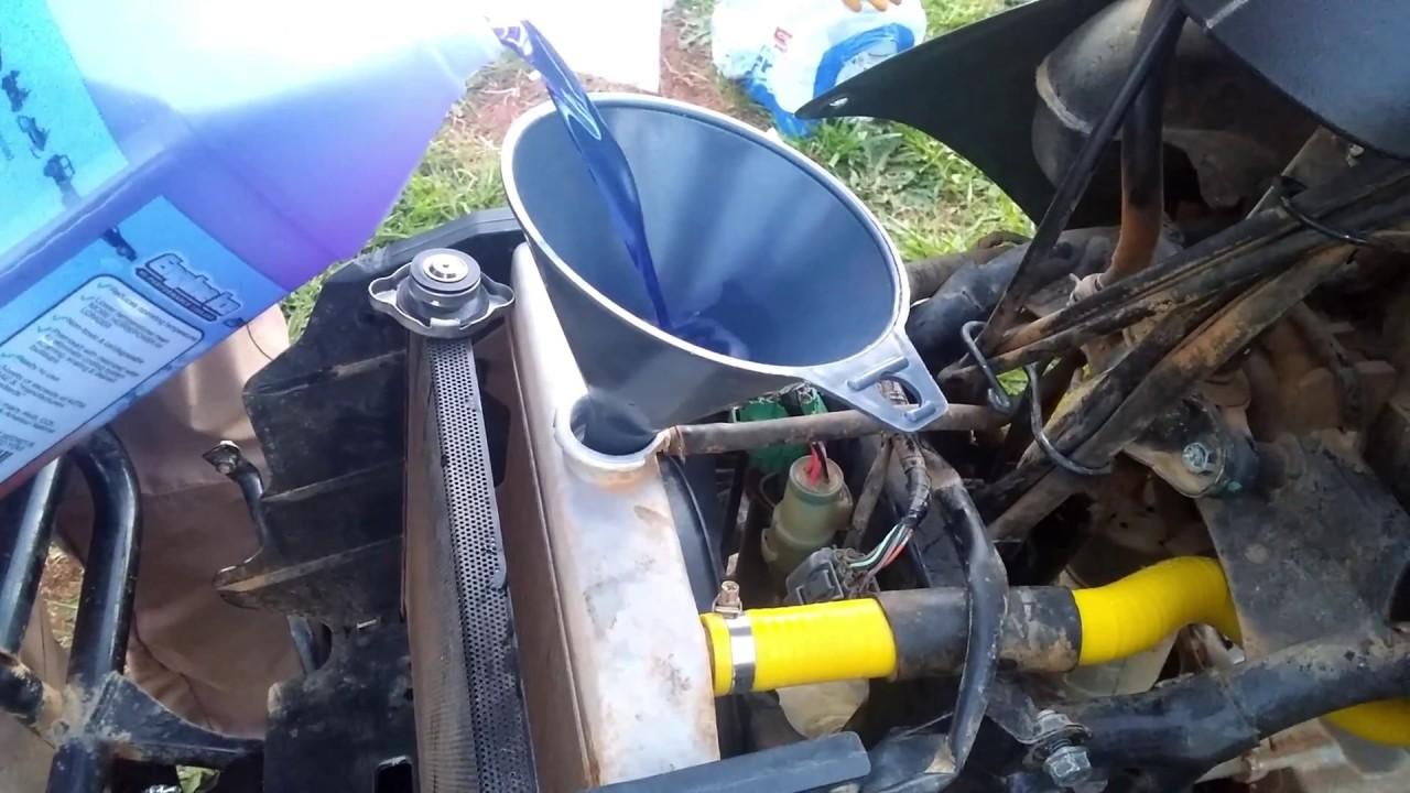 Biohazard Honda Rancher 420 build, Engine ICE Coolant Change