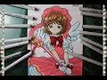 Cómo Dibujar a Sakura Kinomoto  カードキャプターさくら  How To Draw Card Captor Sakura Speed Drawing