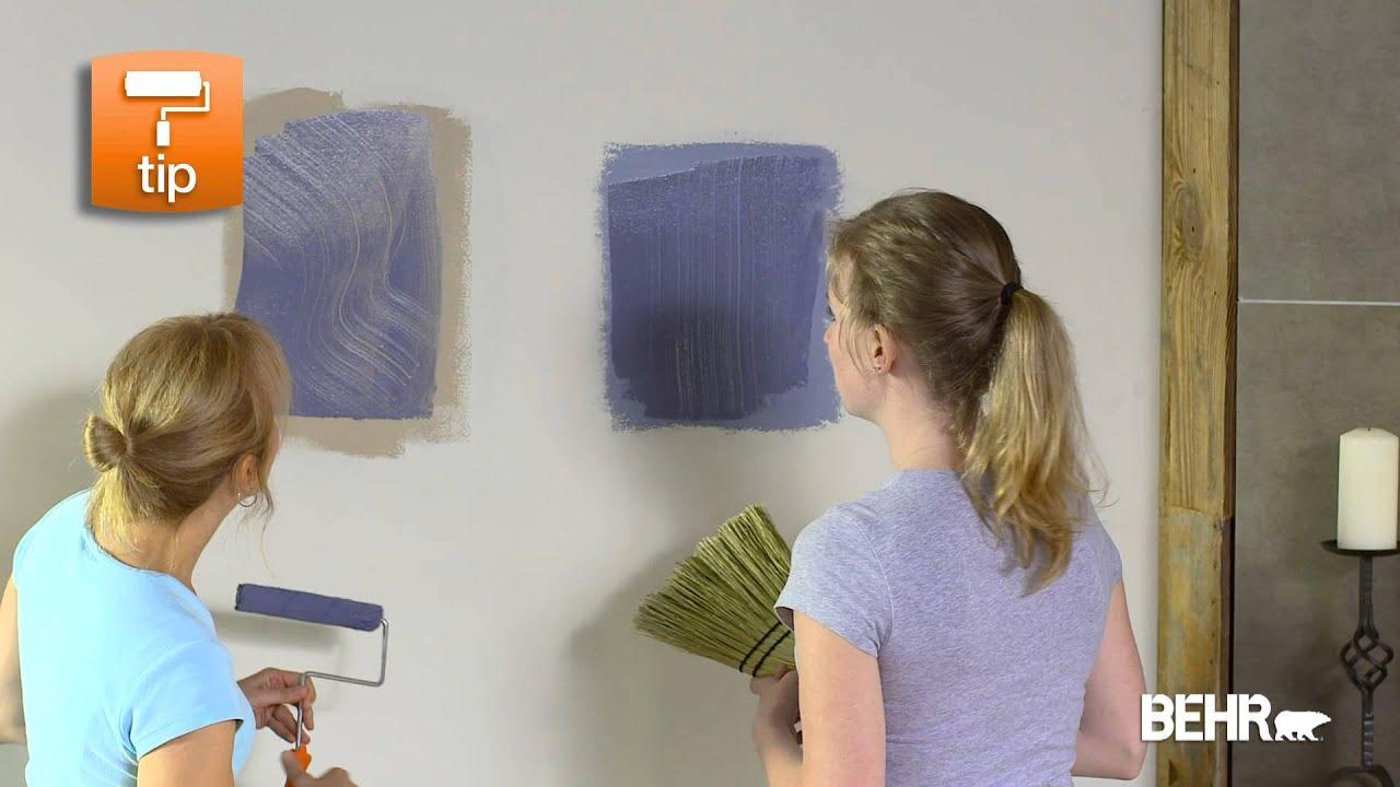 Pintura behr como hacer acabados decorativos faux youtube for Como hacer espejos decorativos