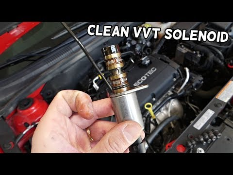 HOW TO CLEAN VVT SOLENOID ON CHEVROLET OPEL ECOTEC  VARIABLE TIMING SOLENOID CLEANING