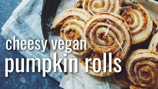CHEESY VEGAN PUMPKIN ROLLS | hot for food