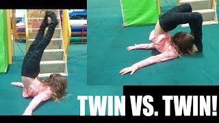 FLEXIBLE ACRO POSE & ACRO GYMNASTICS MOVES CHALLENGE - TWIN VS. TWIN! Video