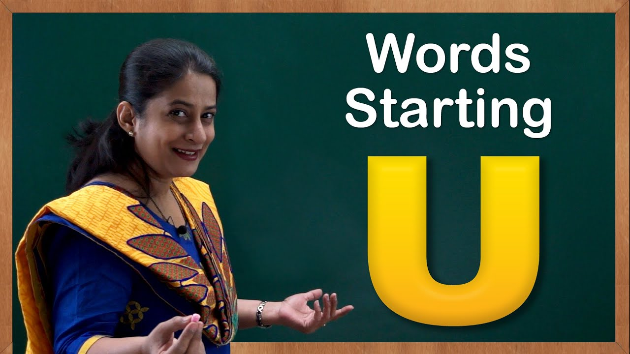 Learn Words Starting With U Flash Cards Words Starting With