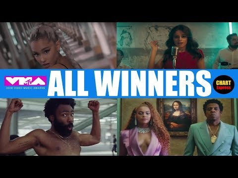 VMA's 2018 - ALL WINNERS | 2018 MTV Video Music Awards Winners | August 20, 2018 | ChartExpress