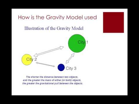 APHG.2.9- How does the Gravity Model predict the movement of goods & people?