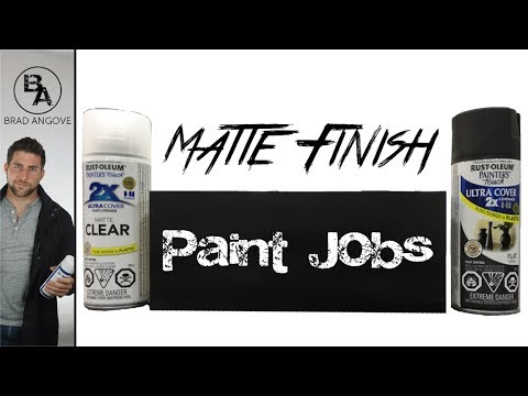 How to get a matte black finish with spray cans