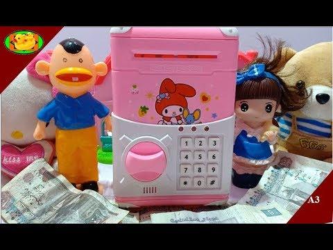 لعبة خزنة | الفلوس تسحب !+ النقود بنفسها - العاب اطفال- Game safe box