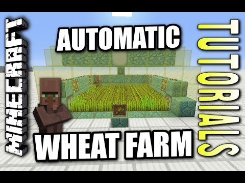 Minecraft PS4 - AUTOMATIC WHEAT FARM - How To - Tutorial ( PS3 / XBOX ) WII