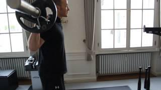 Langhantel Ausfallschritte - Richtige Ausführung - Beintraining - (Barbell Stepping Lunge)