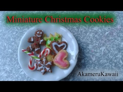 Miniature Gingerbead men and sugar cookies - 1:12 scale dollhouse food Tutorial
