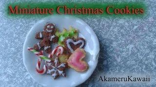 Miniature Gingerbead men and sugar cookies - 1:12 scale dollhouse food Tutorial