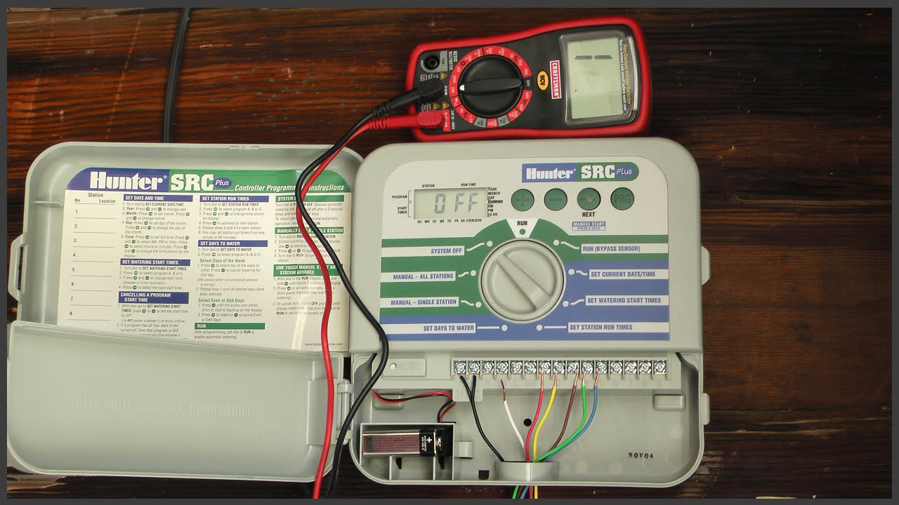 Testing Sprinkler System Wiring  YouTube