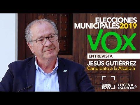 ELECCIONES MUNICIPALES LUCENA 2019: Entrevista a Jesús Gutiérrez (VOX)