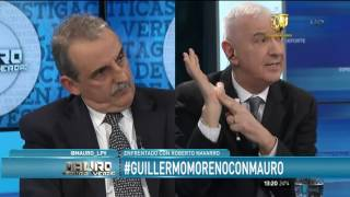 Mauro cortó la entrvista con Moreno