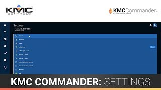 KMC Commander: Settings (Part 1)