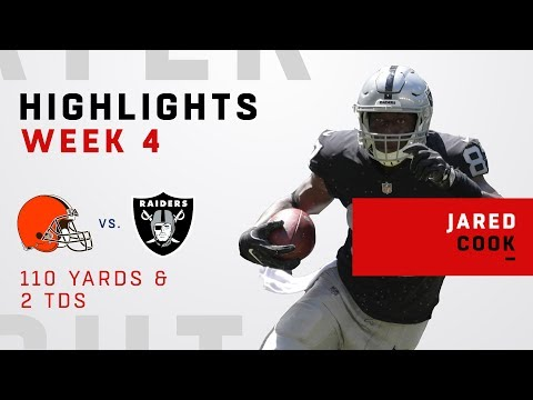 Jared Cook Snags 2 TDs & 110 Yards vs. Cleveland