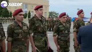 Mehriban Əliyeva hərbi qulluqçuların ehtiyata buraxılması mərasimində