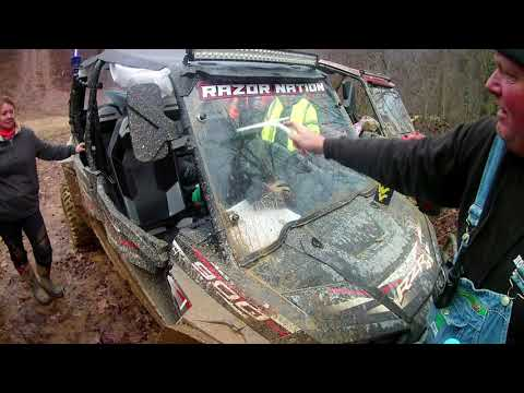 How to clean a side by side windshield on the trail