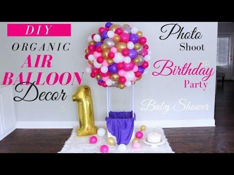 DIY Hot Air Balloon Tutorial | DIY Kids Birthday Decor | DIY Baby Shower Decor