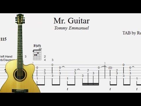 Play like Tommy Emmanuel - Mr. Guitar  - TAB lesson