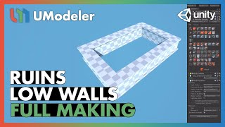 Ruins : Low Walls - UModeler Tutorial