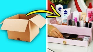 27 CUTE WAYS TO REPURPOSE CARDBOARD BOXES