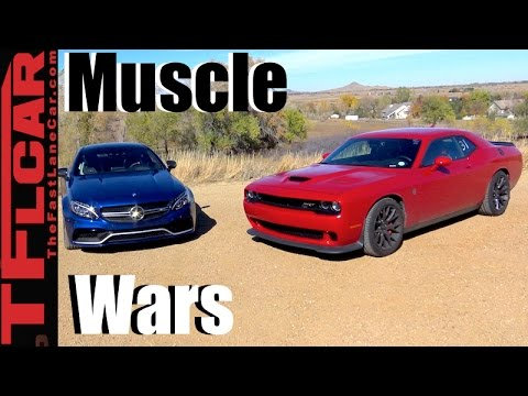 2017 Mercedes-AMG C63 S vs Dodge Challenger Hellcat Mashup Review: German vs American Muscle