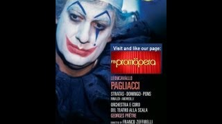 Pagliacci Full movie. Domingo - Stratas - Pons, Zeffirelli