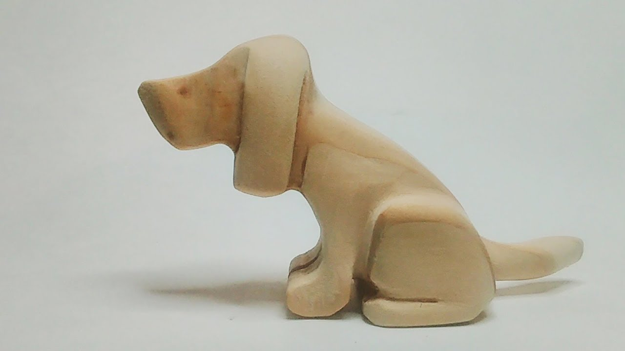 Carved Wood Beagle Beginner Carving Projects